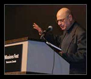Tony Campolo speaking at Missions Fest